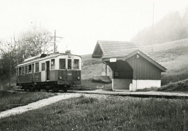 Ligne St-Légier-Châtel, halte de Moille-Saulaz