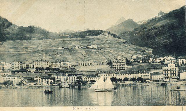 Panorama de Montreux vers 1896