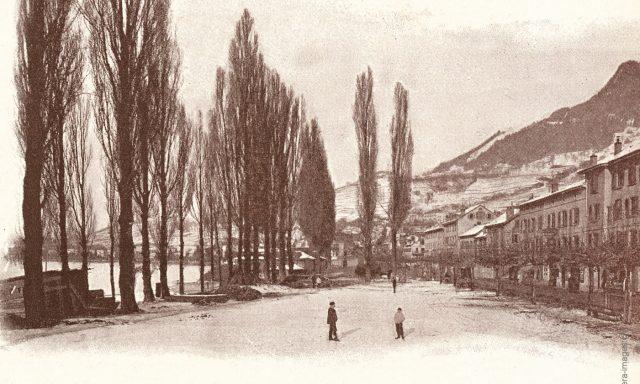 La Place de La Rouvenaz vers 1880