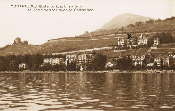 Montreux - Hôtels Lorius, Grammont et Continental avec la Chate