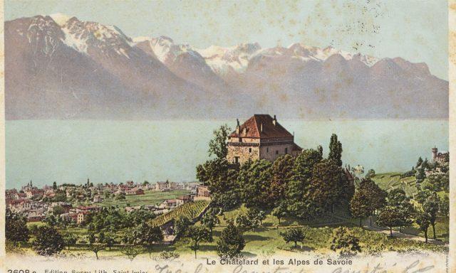 Château du Châtelard et vue sur Clarens