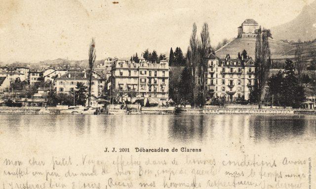 Débarcadère et Rue du Lac à Clarens