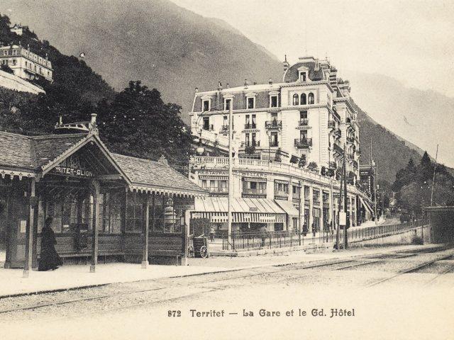 Gare et Grand Hôtel de Territet
