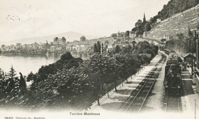 Train vapeur à Territet